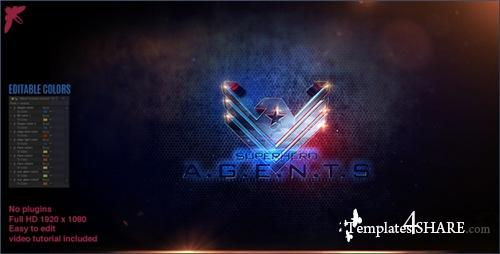 Superhero Agents Logo - After Effects Project (Videohive)