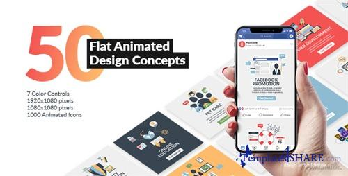 Flat Animated Design Concepts - After Effects Project (Videohive)