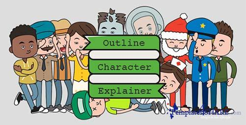 Outline Character Explainer Toolkit - After Effects Project (Videohive)