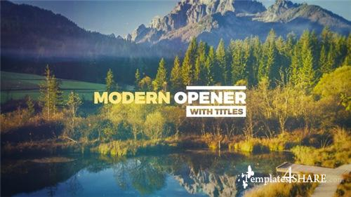 Modern Opener With Titles - After Effects Project (Videohive)
