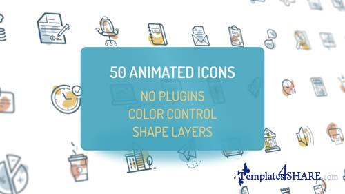 Animated Flat Icons - After Effects Project (Videohive)