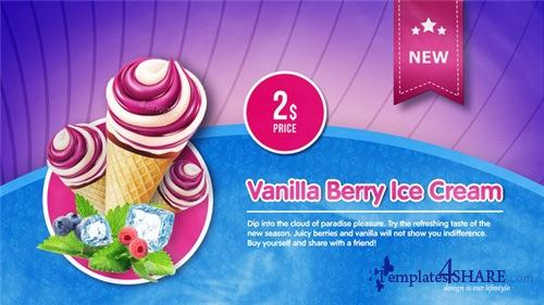 Ice Cream Menu - After Effects Project (Videohive)