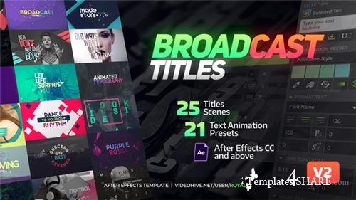 TypeX - Text Animation Tool | Broadcast Pack: Modern Colorful Typography Titles - After Effects Project (Videohive)