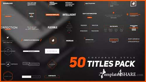50 Stylish Corporate Titles Pack - After Effects Project (Videohive)