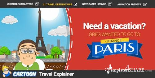 Cartoon Travel Explainer - After Effects Project (Videohive)