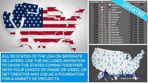 USA Map Kit - After Effects Project (Videohive)