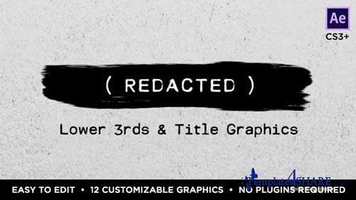 Redacted Titles and Lower Thirds - After Effects Project (Videohive)