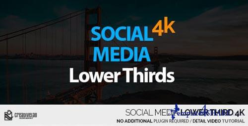 Social Media Lower Thirds 4K - After Effects Project (Videohive)
