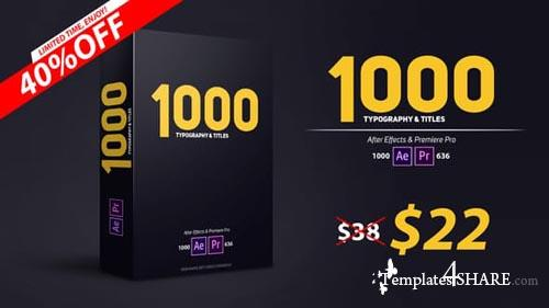 900 Typography & Titles - After Effects Project (Videohive)