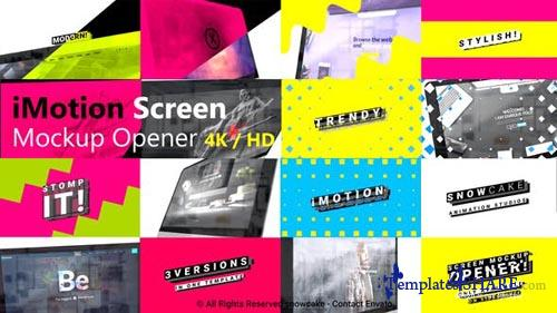 Stomp Screen Mockup Opener - After Effects Project (Videohive)