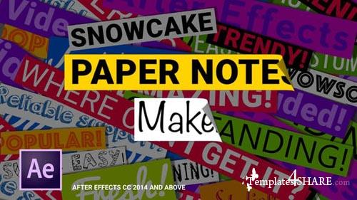 Paper Notes Maker - Titles and Lower Thirds - After Effects Project (Videohive)
