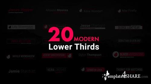 Modern Lower Thirds 21023577 - After Effects Project (Videohive)