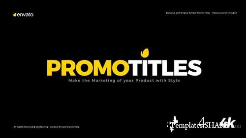 Simple Promo Titles Package - After Effects Project (Videohive)