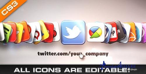 Media & Social Networks Icons - After Effects Project (Videohive)