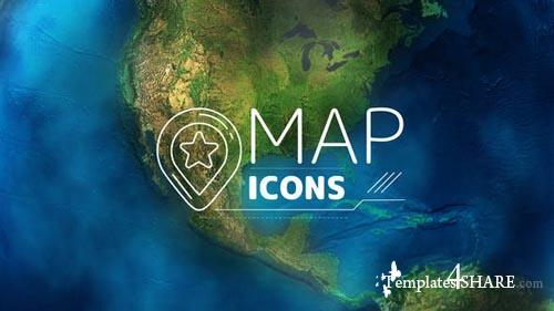 Map Icons - After Effects Project (Videohive)