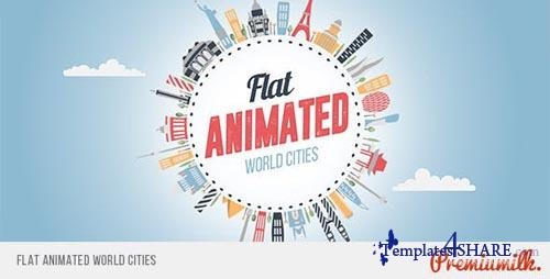 Flat Animated World Cities - After Effects Project (Videohive)