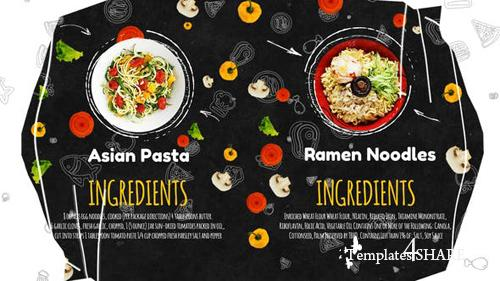 Recipes Menu Slideshow - After Effects Project (Videohive)