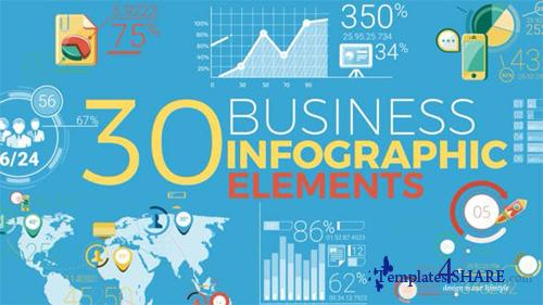 30 Business Infographic Elements - After Effects Project (Videohive)