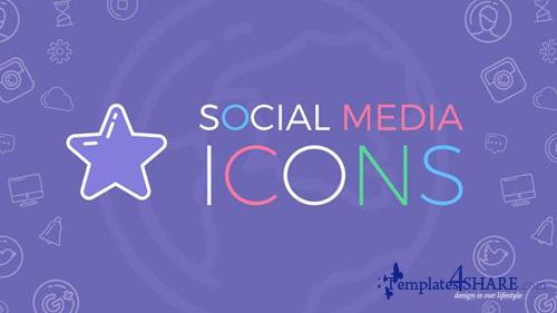 Social Media Icons - After Effects Project (Videohive)