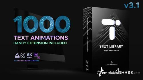 Text Library - Handy Text Animations - After Effects Project (Videohive)