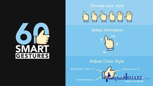 60 Smart Gestures - After Effects Project (Videohive)