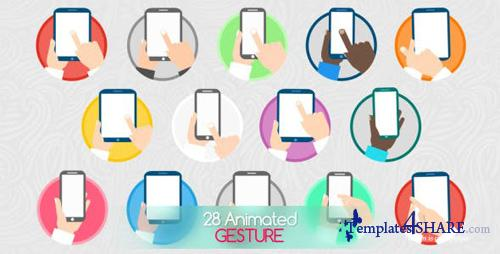 Animated Gesture Icons - After Effects Project (Videohive)